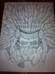 native american skull drawing by ced tatau youtube