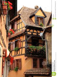 french village alsace france royalty free stock photo image
