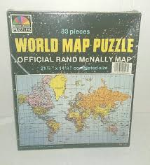 World Map Puzzles by Amazon Com Vintage Rand Mcnally World Map Puzzle 517 Toys U0026 Games