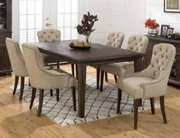 fancy upholstered dining chairs with nailheads on home design