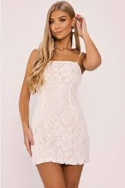 bodycon dresses billie faiers white strappy lace bodycon dress in the style