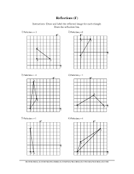 geometric transformation worksheets xy coordinate graph paper
