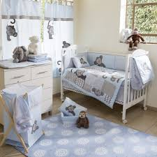 Boy Monkey Crib Bedding Blue Monkey Crib Bedding Collection 4 Pc Crib Bedding Set