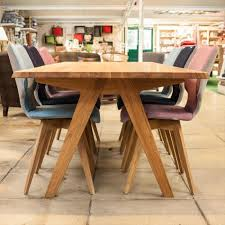 x rustic solid oak extending dining table room provisionsdiningcom