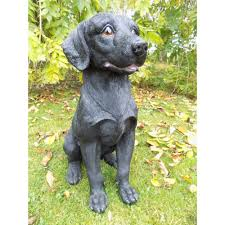 black labrador animal garden ornament statues