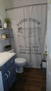 Bathroom Curtain Ideas Pinterest Farmhouse Shower Curtain Grain Sack Best Ideas On Pinterest