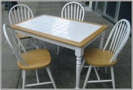 Diy Patio Table Top Tile Top Table Home Design Endearing Tile Top Table And Chairs