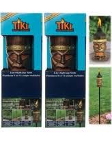 fall into savings on tiki torches set king tiki outdoor 4 in 1 for