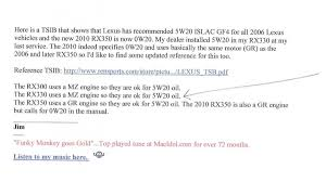 lexus rx330 oil filter my oil analysis sample results clublexus lexus forum discussion