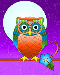 colored pictures of owls 224 coloring page
