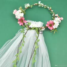 wedding garlands online bohemian hair crowns flower headbands women wedding veils