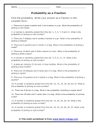 7th grade probability worksheet free worksheets library download