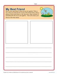 prompt for kindergarten my best friend