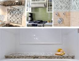 Backsplash Subway Tiles For Kitchen White Ceramic Subway Tile Kitchen Backsplash With Glass Accent
