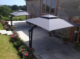 Grey Patio Umbrella by Piazza Side Arm Cantilever Garden Parasol