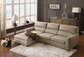 Affordable Sleeper Sofa by Khaki Leather Sectional Sleeper Sofa With Left Chaise Combined