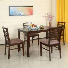 neelkamal dining table home by nilkamal gem solid wood 4 seater dining set price in india