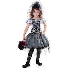 Gothic Halloween Costumes Girls Goth Spider Bride Child Halloween Costume Walmart