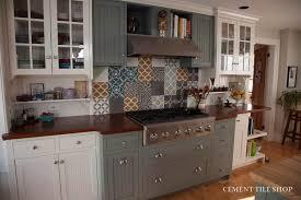 backsplash tile in kitchen kitchen backsplash cement tile shop
