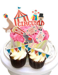 circus cake toppers circus cupcake stand up decorations top my bake cake cupcake
