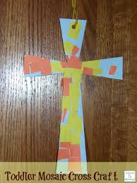 cross crafts for toddlers easter mosaics