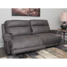 austere grey power reclining sofa j1 384prs home decor