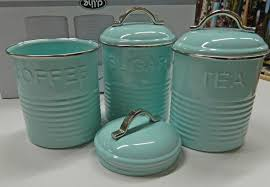 coffee kitchen canisters enamel retro kitchen canisters white blue grey tea coffee
