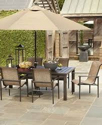 Outdoor Patio Furniture Sale by Buy Sorrento 6 Seater Patio Furniture Set With Parasol Brown At