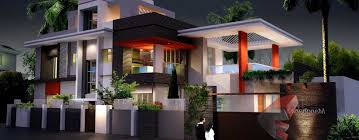 Houzd by Double Story Modern House Plans Home Design