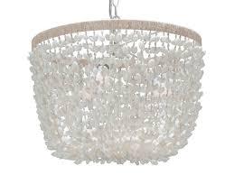 Seashell Light Fixture Kouboo Inverted Pendant L Seashell White Ceiling