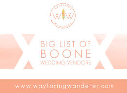 wedding vendors wayfaring wanderer big list of boone wedding vendors nc