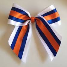 white and blue bows tick tock mystique cheer bow everything cheerleading