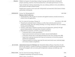 Show Resume Examples by Cosmetology Resume Templates Cosmetology Cover Letter 3285 Best