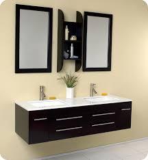 Dual Bathroom Vanity by Fresca Fvn6119uns Bellezza 59 Inch Espresso Modern Double Sink