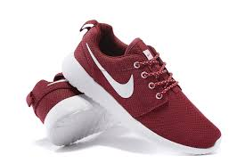 rosh run nike roshe run womens sneakers wine white