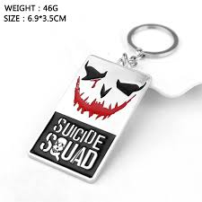 classic dog ring holder images Suicide squad joker dogs tag keychain unisex car key holder jpg