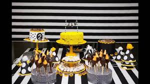 yellow and black party themed decorating ideas youtube