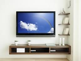 Wall Mounted Tv Ideas by Wall Mount Tv With No Wires Also Need A Floating Shelf For Dvd