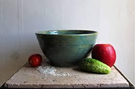 light blue fruit salad bowl large yarn kitting bowl handmade