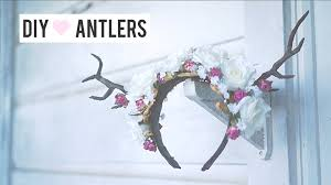 halloween headbands forest deer fawn antler diy floral halloween headpiece costume