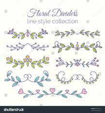 flourishes dividers set line stock illustration