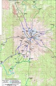 Montana Topographic Map by Skiing The Cascade Volcanoes Mount Shasta