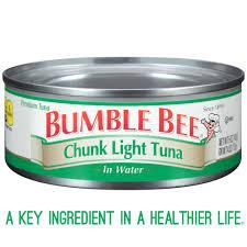 Bumble Bee Chunk Light Tuna In Water Bumble Bee Tuna And Seafood