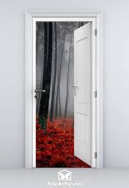 Stickers De Porte Trompe L Oeil by Open Door Forest In Autumn