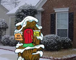 the grinch yard art sign mount crumpit whoville grinch u0027s