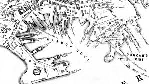 Boston Map 1770 by Fitz Henry Lane View Of Gloucester From Rocky Neck 1846 Inv