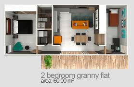 Two Bedroom Granny Flat Floor Plans Two Bedroom Flat Photos And Video Wylielauderhouse Com