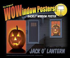 amazon com wowindow posters jack o u0027lantern pumpkin halloween