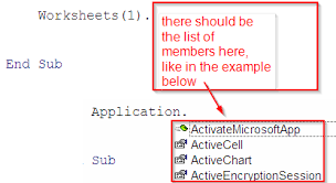 in excel 2007 in vba editor why when i type worksheets 1