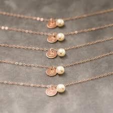 rose gold bracelet set images Rose gold initial bracelet set of 7 dainty bridesmaid jewelry jpg